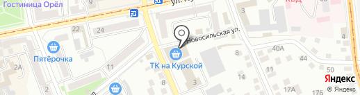 Торговый комплекс на Курской на карте Орла