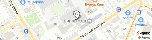 Азимут на карте Орла