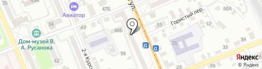 Луч на карте Орла