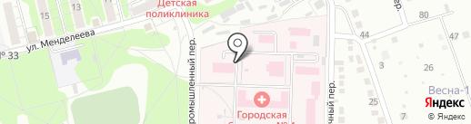 Курская городская клиническая больница №4 на карте Курска