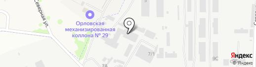 Вадрус на карте Орла