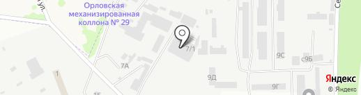 Амида на карте Орла