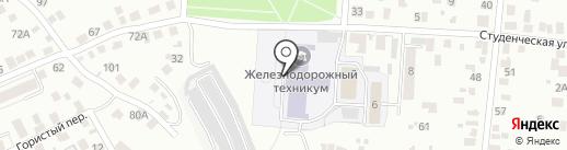 Железнодорожный техникум на карте Орла