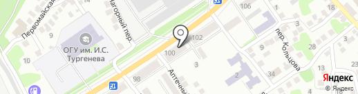 Кузовной на карте Орла