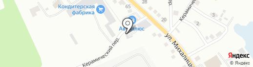 Автостоянка на карте Орла