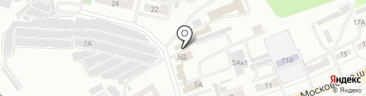 Три тополя на карте Орла