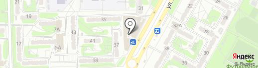 Магазин конфет и печенья на карте Курска