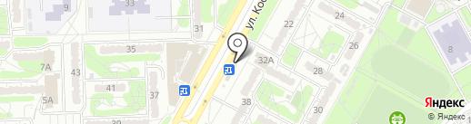 Цветочный магазин на карте Курска