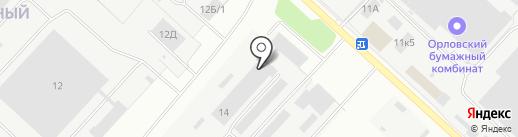 Производственная компания на карте Орла