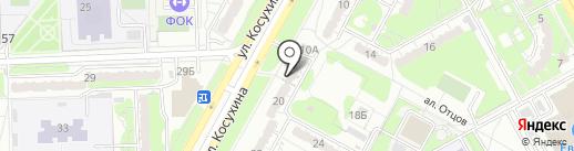 Анести на карте Курска