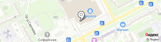 Магазин детских головных уборов на карте Курска