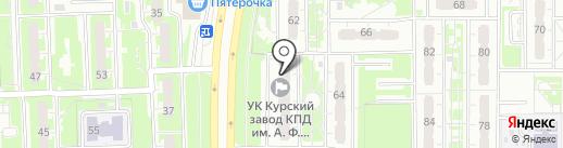 Пуговка на карте Курска