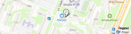 Магнит на карте Курска