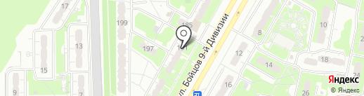 Компакт на карте Курска