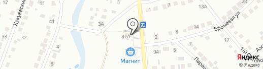 АВТОЛИНИЯ-46 на карте Курска