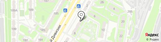 Золотые ножницы на карте Курска