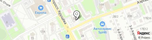 Аделия на карте Курска