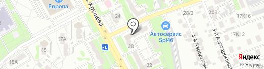 Глянец на карте Курска