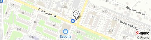 Киоск по продаже печатной продукции на карте Курска