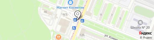 Киоск по продаже проездных билетов на карте Курска