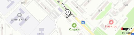Сережка на карте Орла