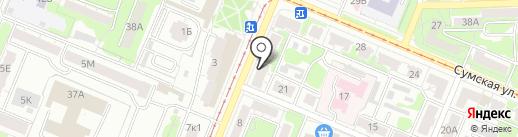 Преображения на карте Курска