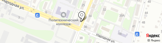 Продукты 24 часа на карте Курска