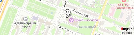 Курский союз детских и пионерских организаций на карте Курска