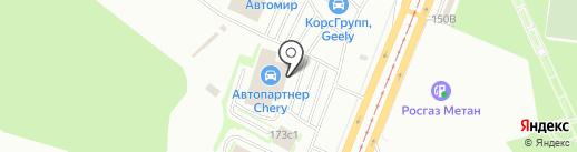 Карлайн на карте Курска