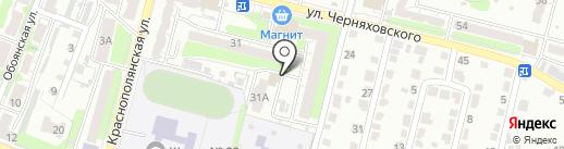 Магнолия на карте Курска
