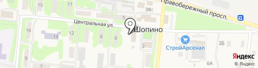 Областной наркологический диспансер Калужской области на карте Шопино