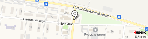 Магазин одежды на карте Шопино