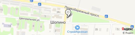 Калуга-Молоко, ЗАО на карте Шопино