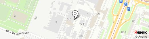 Сквирел на карте Курска
