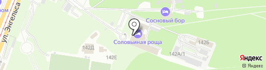 Реклама на кнопке на карте Курска