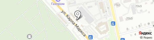 Золотой поршень на карте Курска