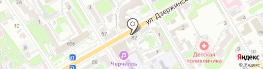 Магазин тканей и фурнитуры на карте Курска