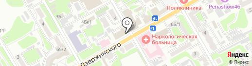 Курская областная организация профсоюза работников здравоохранения на карте Курска