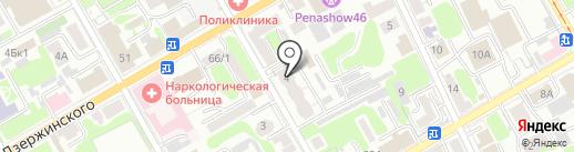 Магазин тюли и штор на карте Курска
