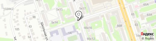 Киоск по продаже мороженого на карте Курска