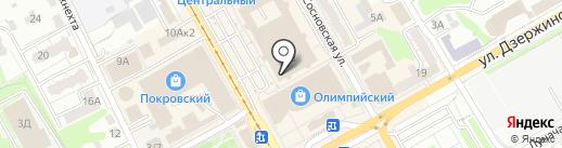 Связист на карте Курска