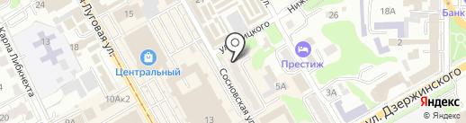 Сосновый бор на карте Курска
