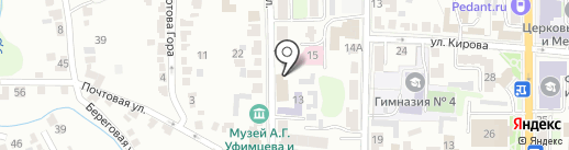 Областной центр развития творчества детей и юношества на карте Курска