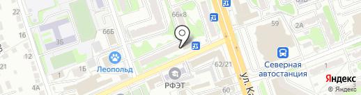 Данила-Мастер на карте Курска