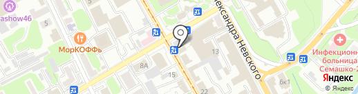 Старое время на карте Курска