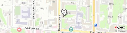 Адвокат Рыкова М.Ю. на карте Курска