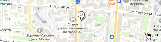 Курская областная организация Всероссийского общества инвалидов ВВ МВД России на карте Курска