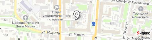 Тандем на карте Курска