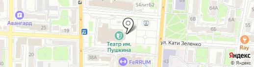 Детская театральная студия на карте Курска