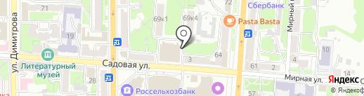 Швейный салон на карте Курска
